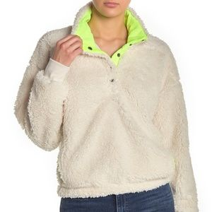 Abound Faux Shearling Fleece Pullover Size M
